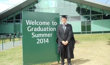 Samuel Shoesmith graduated from the University of Nottingham