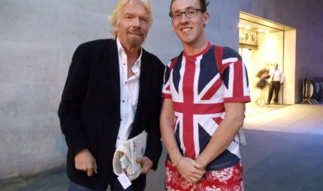 Sir Richard Branson and me!