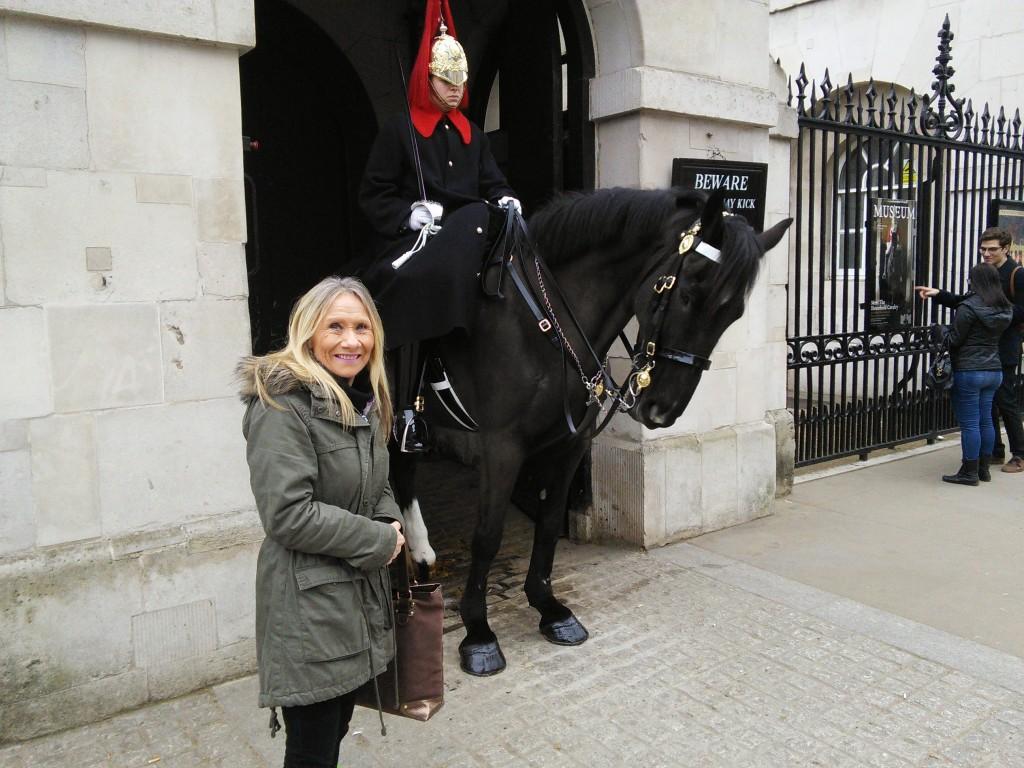 Mum and Horse Guard