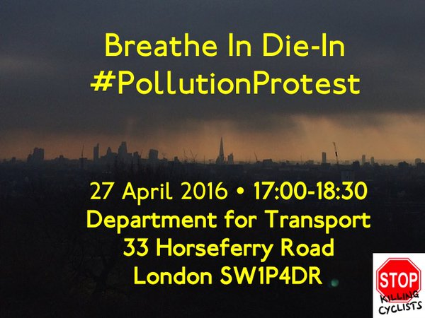 Breathe In Die-In #Pollution Protest